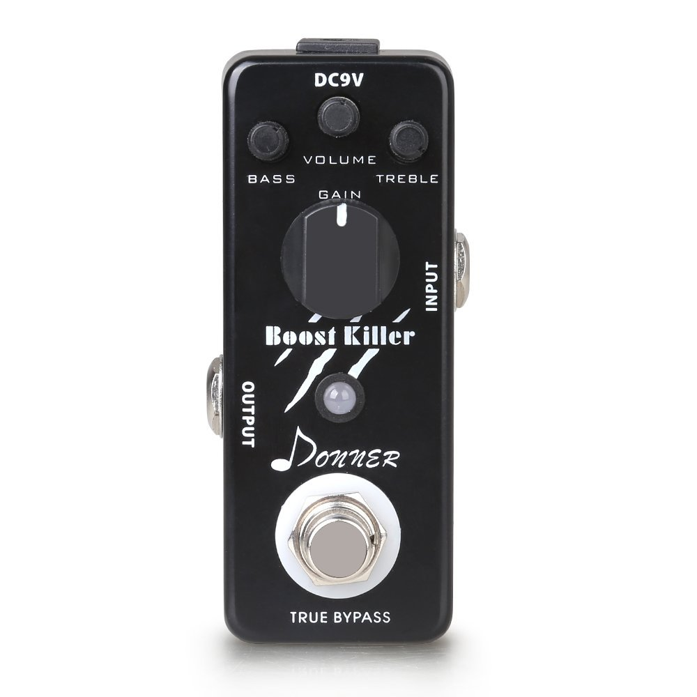 inexpensive donner true bypass boost killer guitar effect pedal rich distortion sound greg. Black Bedroom Furniture Sets. Home Design Ideas