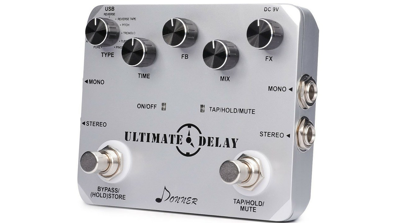 donner ultimate delay pedal 11 modes first look review greg kocis producer songwriter. Black Bedroom Furniture Sets. Home Design Ideas