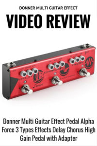 Donner Multi Guitar Effect Pedal Alpha Force 3 Types Effects Delay Chorus High Gain Pedal with Adapter Pin