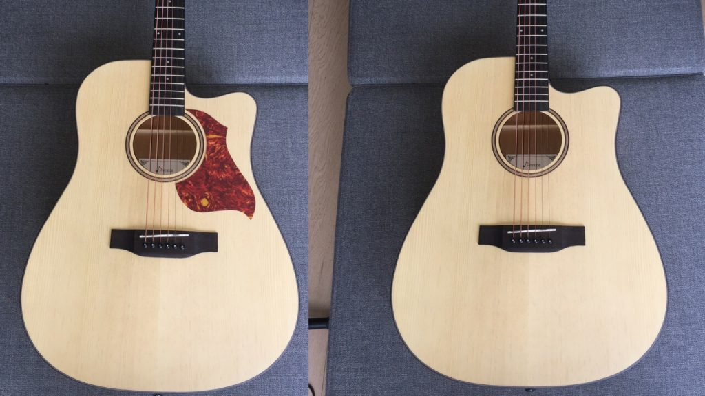 Donner DAG-1C Beginner Acoustic Guitar Review Pickguard or not