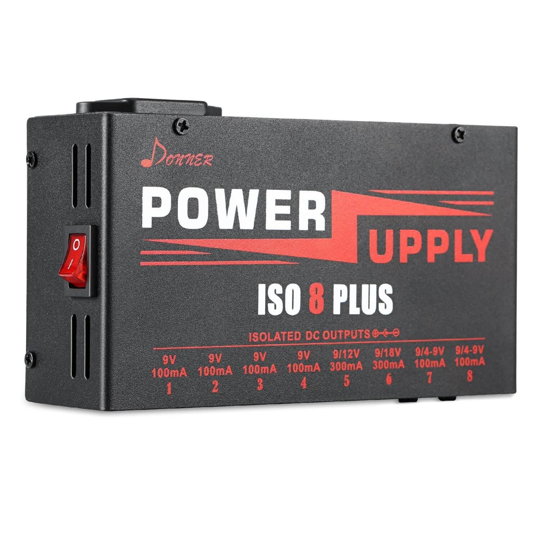 donner dp 4 power supply 8 plus isolated outputs sag 4 9v guitar pedals greg kocis. Black Bedroom Furniture Sets. Home Design Ideas