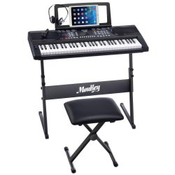 Moukey MEK-200 61 Key Electric Keyboard Portable Beginner Piano Keyboard Kit Review